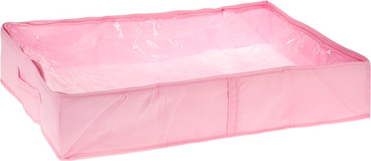 Чехол для одеял Все на местах Minimalistic, цвет: розовый, 80 х 45 х 15 см1014022.Чехол для одеял Minimalistic выполнен из сочетания ПВХ, спанбонда и изолона. Модель имеет две удобные вертикальные ручки. В стенки чехла вставлен уплотнитель, что позволяет ему держать форму. Материал: спанбонд, ПВХ, изолон. Размер: 80 х 45 х 15 см.