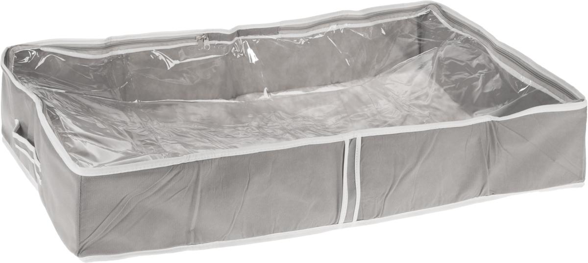Чехол для одеял Все на местах Париж, цвет: серый, белый, 80 х 45 х 15 см1003022.Чехол для одеял Все на местах Париж выполнен из сочетания ПВХ и спанбонда. Модель имеет две удобные вертикальные ручки. В стенки чехла вставлен уплотнитель, что позволяет ему держать форму. Подходит для хранения одеял, пледов, подушек и т.д. Материал: спанбонд, ПВХ. Размер: 80 х 45 х 15 см.