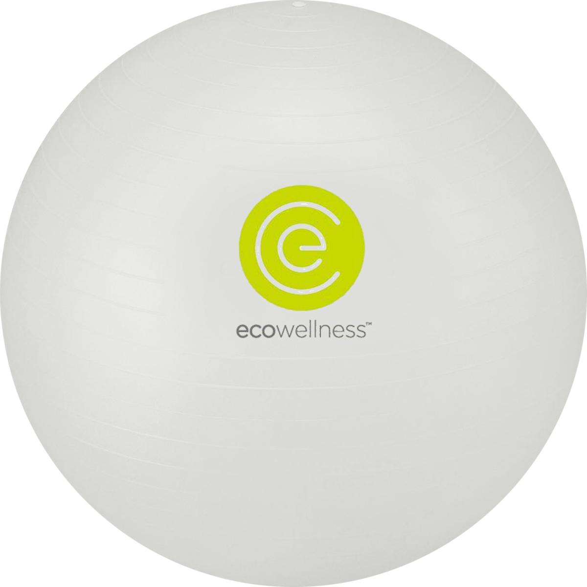 Мяч гимнастический Ecowellness 65 см, c ручным насосом, цвет: серый. QB-001TAG3-26QB-001TAG3-26_серый
