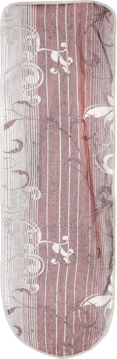 Чехол для гладильной доски Eva, цвет: коричневый, голубой, 120 х 38 смЕ13*_коричневый, голубойЧехол Eva, выполненный из хлопка с поролоновым слоем, продлит срок службы вашей гладильной доски. Чехол снабжен стягивающим шнуром, при помощи которого вы легко отрегулируете оптимальное натяжение и зафиксируете чехол на рабочей поверхности гладильной доски. Чехол оформлен красивым узором в полоску, что оживит внешний вид вашей гладильной доски. Размер чехла: 120 х 38 см. Максимальный размер доски: 112 х 32 см.
