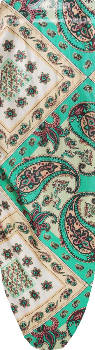 Чехол для гладильной доски Eva, цвет: зеленый, светло-зеленый, бежевый, 129 х 45 смЕ1303_огурцы/зеленый, светло-зеленый, бежевыйХлопчатобумажный чехол Eva с поролоновым слоем продлит срок службы вашей гладильной доски. Чехол снабжен прочной резинкой, при помощи которой вы легко зафиксируете его на рабочей поверхности гладильной доски. Размер чехла: 129 см х 45 см. Максимальный размер доски: 120 см х 38 см.