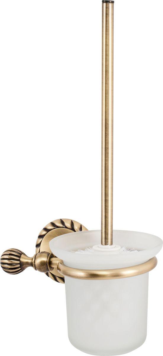 Ершик для унитаза Del Mare 11800, напольный, цвет: античная бронза11808Комплект для унитаза — это практичный, стильный и гигиеничный аксессуар для туалета. Благодаря настенному монтажу модель можно размещать на удобной высоте. Жесткая щетина из синтетических волокон легко справится с загрязнениями.