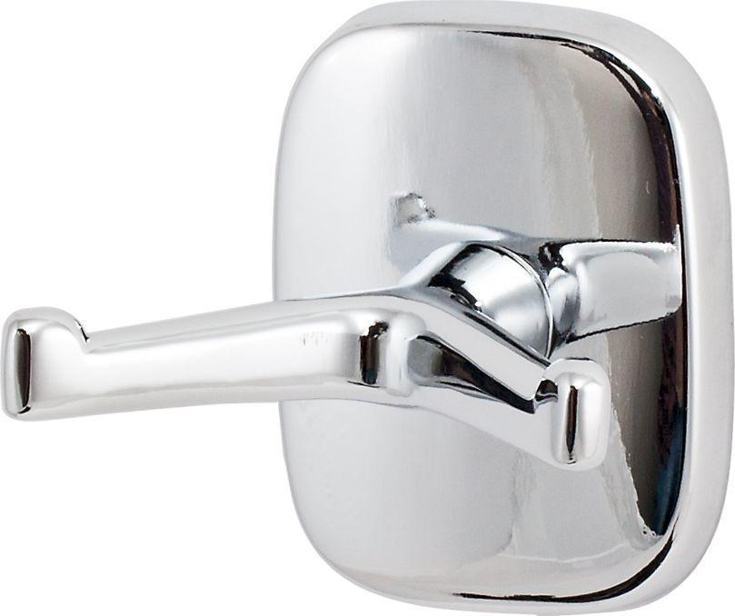 Крючок для ванной Del Mare 1500, двойной, цвет: хром1501Крючок двойной — это оригинальный и функциональный аксессуар. Крючок можно использовать в помещениях с высокой влажностью. Навесные крючки — это практичное решение для размещения аксессуаров, полотенец или банных принадлежностей, позволяющее сэкономить пространство и организовать порядок в ванной комнате.