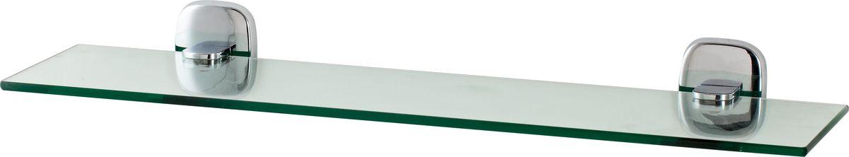 Полка для ванной Del Mare 1500, цвет: хром, 45 см1507Стеклянная полка произведена из безопасного, прочного и стойкого к коррозии металлического сплава, с многослойным никель-хромовым покрытием, стойким к истиранию. Внутренние элементы крепления после монтажа остаются скрытыми, сохраняя аккуратный и эстетичный вид изделия. Стеклянная полка - это удобная настенная подставка для хранения различной косметики, средств для умывания, мыльниц и других аксессуаров, что позволит организовать порядок в ванной комнате.