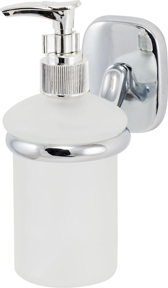 Дозатор для жидкого мыла Del Mare 1500, цвет: хром1510Дозатор жидкого мыла удобен для применения в ванных комнатах, уборных и на кухнях. Изделие оснащено крышкой с кнопкой, обеспечивающей дозированную выдачу мыла.