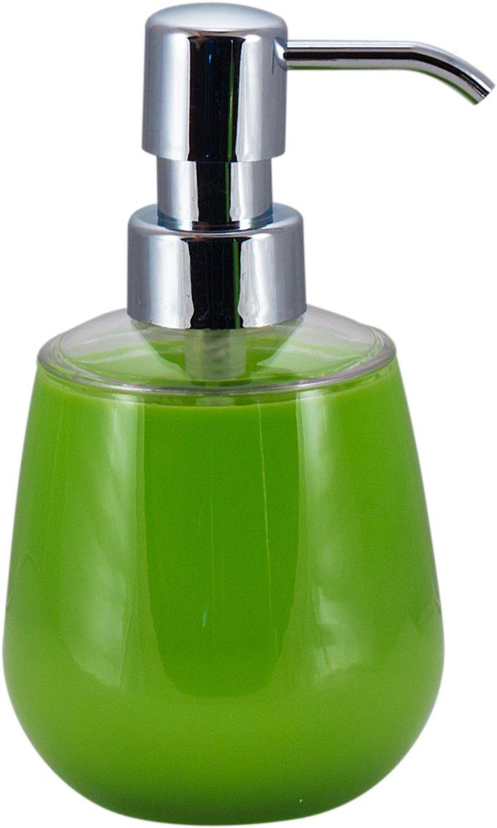 Дозатор для жидкого мыла Swensa Рондо, цвет: зеленый, 250 млAC-3001A-GreenДозатор для жидкого мыла Рондо — отличная альтернатива традиционной мыльнице. Сочетание емкости из акрила и хромированного «носика» выглядит просто, но, в то же время, стильно. Моющее средство (мыло или гель) выдается дозированно, а значит, существенно экономится. Благодаря компактному размеру, место для диспенсера найдется даже на небольшой полочке в ванной.