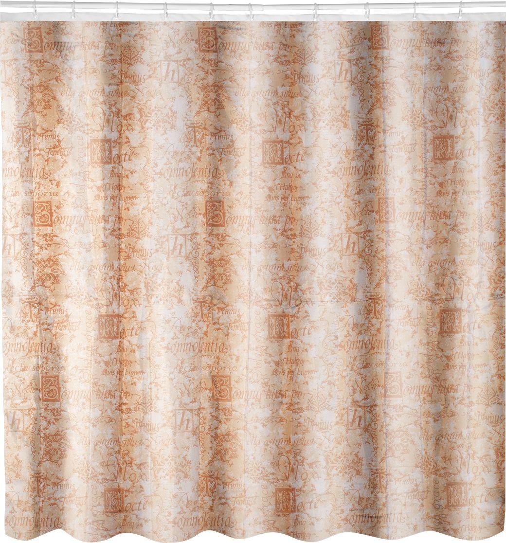 Штора для ванной Swensa Антик, цвет: бежевый, 180 х 180 смSWC-70-23Штора для ванной комнаты выполнена из высококачественного 100% полиэстера с водоотталкивающим и антигрибковым покрытием. В комплекте прилагаются 12 пластиковых колец. Такая штора прекрасно впишется в любой интерьер ванной комнаты и идеально защитит от брызг. Машинная стирка при температуре 40°С.