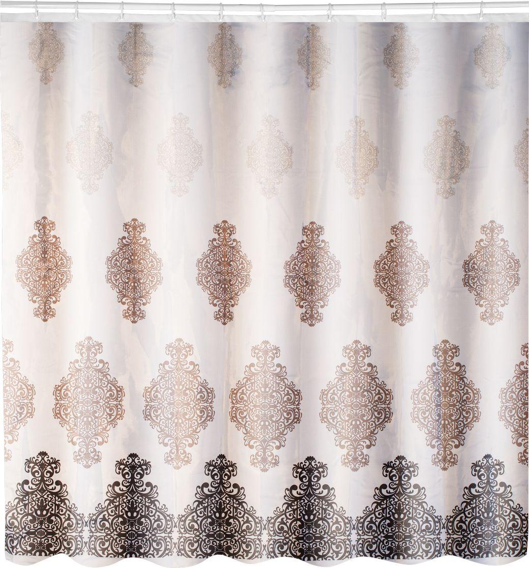 Штора для ванной Swensa Анкона, цвет: бежевый, 180 х 180 смSWC-70-26Штора для ванной комнаты выполнена из высококачественного 100% полиэстера с водоотталкивающим и антигрибковым покрытием. В комплекте прилагаются 12 пластиковых колец. Такая штора прекрасно впишется в любой интерьер ванной комнаты и идеально защитит от брызг. Машинная стирка при температуре 40°С.