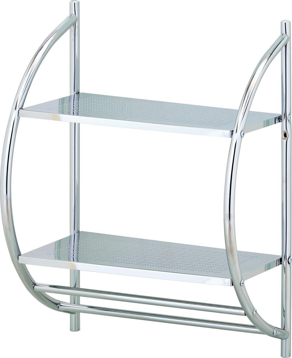 Стеллаж настенный для ванной Swensa, 2 яруса, цвет: хром, 40 х 54 смSWFL-18Настенный стеллаж с 2-мя полками идеально подойдет для ванной комнаты для хранения гигиенических принадлежностей и полотенец.