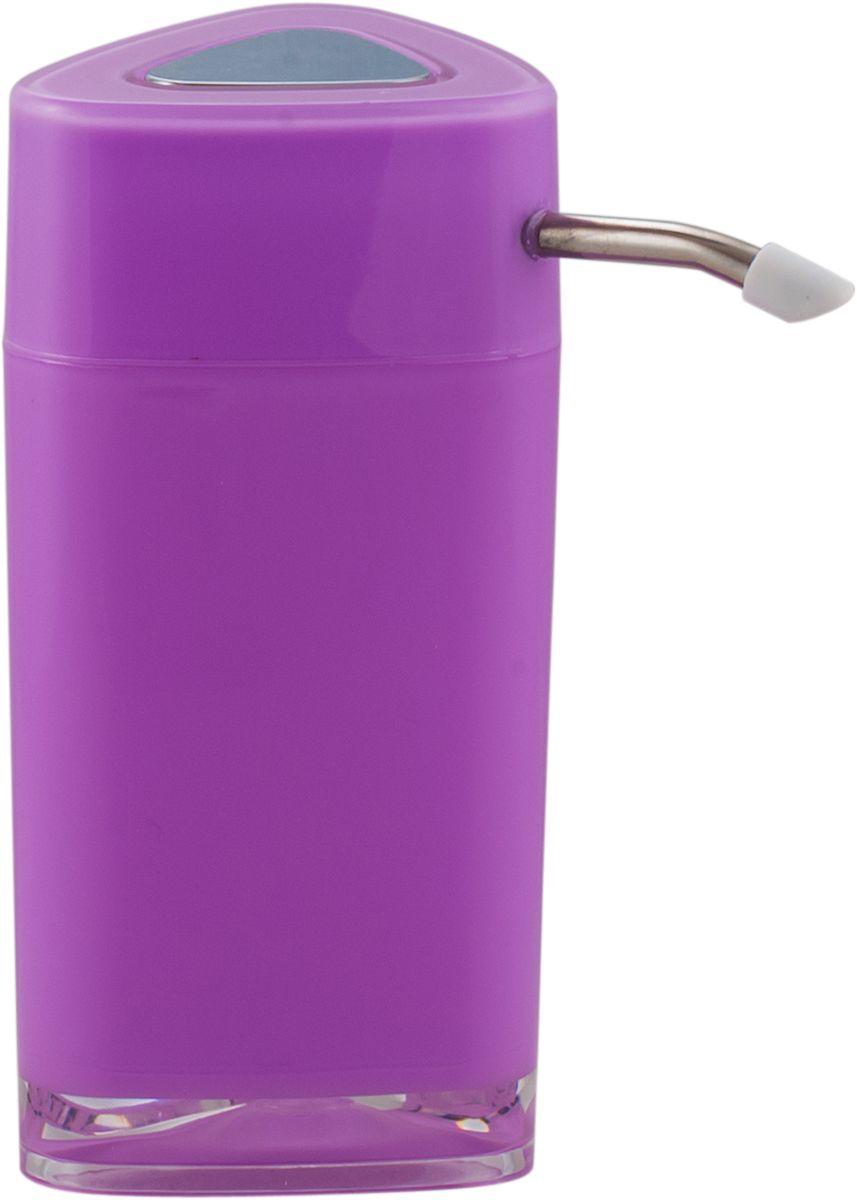 Дозатор для жидкого мыла Swensa Нео, с зеркалом, цвет: лиловый, 250 млSWP-0700LL-AДозатор для жидкого мыла обеспечивает его экономный расход и упрощает процедуру умывания. Дизайн этого изделия выполнен с учетом модных тенденций оформительского искусства. Флакон дозатора имеет эргономичную форму, позволяя увеличить полезное пространство на полке в ванной или на кухонной мойке. Внешняя часть помпы изготовлена из металла, стойкого к окислению под воздействием моющих средств и воды. Конструкция помпы выдерживает многократные нагрузки.