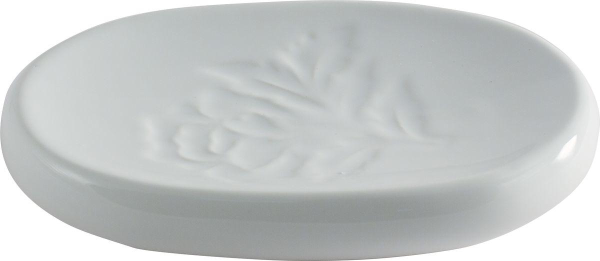 Мыльница Swensa Пион, цвет: белыйSWTK-2200DМыльница — обязательный атрибут функциональной ванной комнаты. Изящное изделие, выполненное из белоснежной керамики, декорировано рельефным флористическим орнаментом. Эта эффектная мыльница в комплекте с иными аксессуарами из одноименной коллекции Пион станет органичным дополнением интерьера ванной комнаты, выдержанного в классическом стиле.