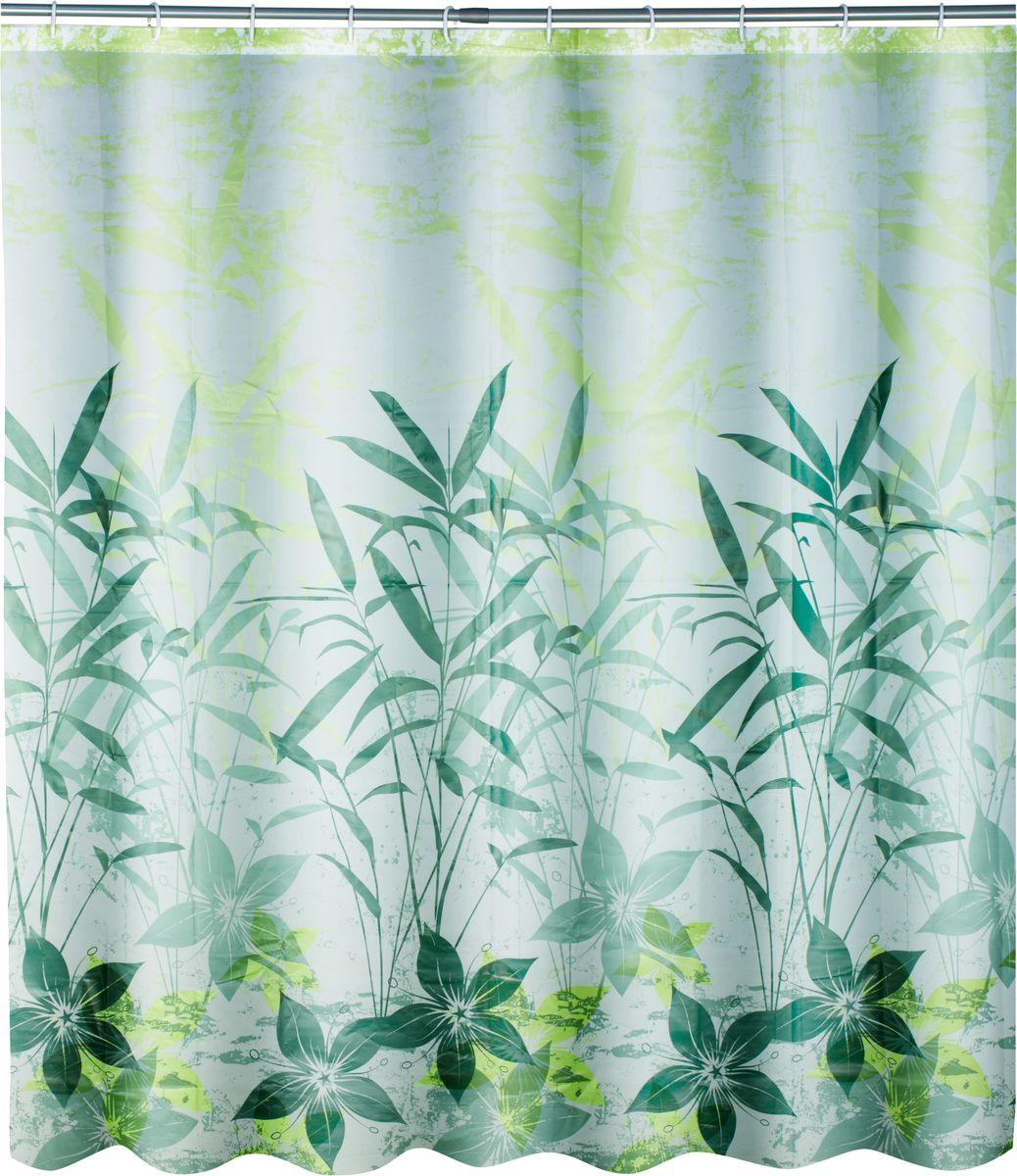 Штора для ванной Swensa Grass, цвет: зеленый, 180 х 180 смSWC-50-01Штора выполненна из такого материала как ПЕВА и EVA (вспененный этиленвинилацетат) и оформлена оригинальным рисунком. Она надежно защитит от брызг и капель пространство вашей ванной комнаты в то время, пока вы принимаете душ. В верхней кромке шторы предусмотрены отверстия для пластиковых колец, которые входят в комплект. Количество колец: 12 шт.
