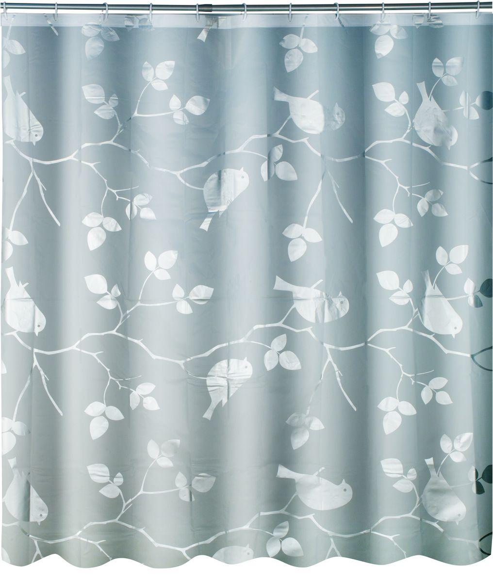 Штора для ванной Swensa Birds, цвет: серый, 180 х 180 смSWC-50-02Штора выполненна из такого материала как ПЕВА и EVA (вспененный этиленвинилацетат) и оформлена оригинальным рисунком. Она надежно защитит от брызг и капель пространство вашей ванной комнаты в то время, пока вы принимаете душ. В верхней кромке шторы предусмотрены отверстия для пластиковых колец, которые входят в комплект. Количество колец: 12 шт.