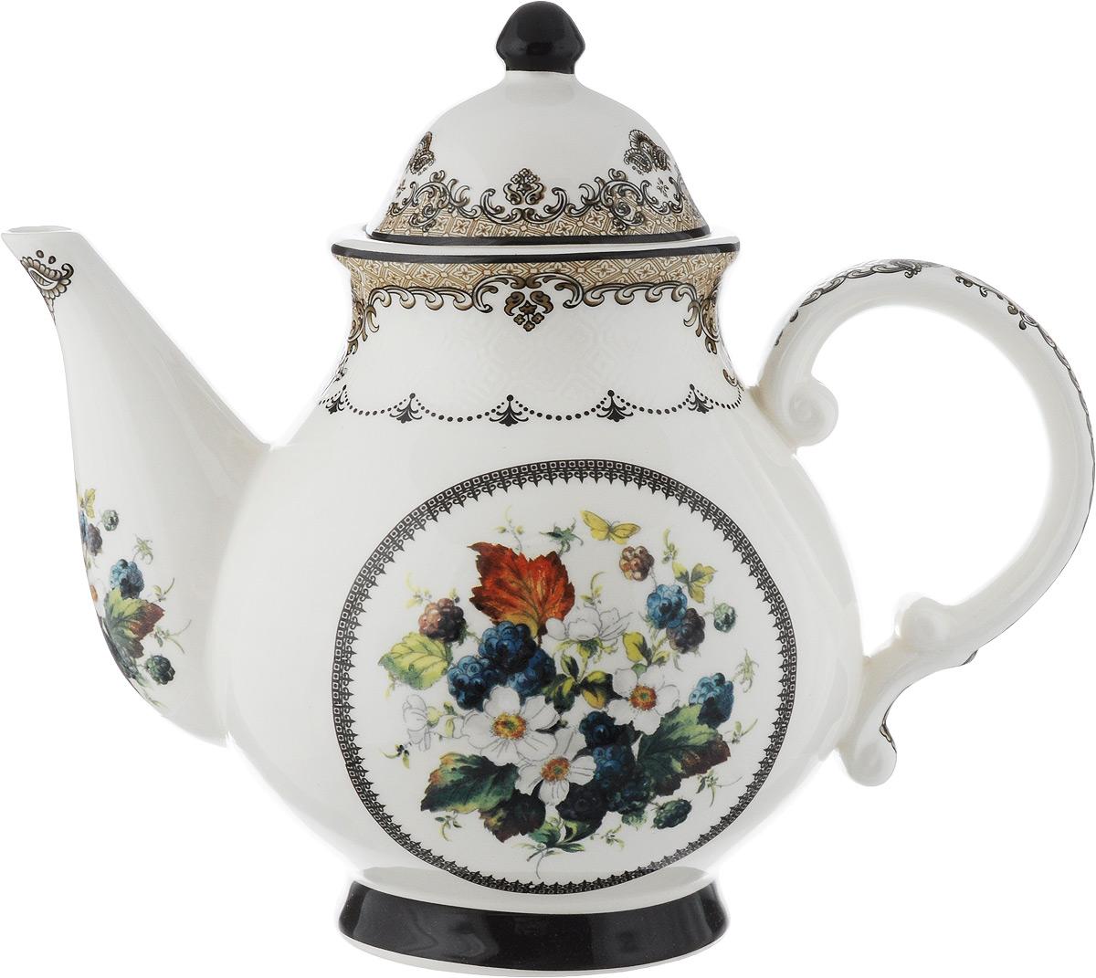 Чайник заварочный Lillo, 1,8 л1158F-АТМЗаварочный чайник Lillo, изготовленный из высококачественной керамики, прекрасно впишется в интерьер вашей кухни и станет достойным дополнением к кухонному инвентарю. Чайник, снабженный эргономичной крышкой и удобной ручкой. Чайник декорирован оригинальным рисунком. Заварочный чайник Lillo не только украсит ваш кухонный стол и подчеркнет прекрасный вкус хозяйки, но и станет отличным подарком. Высота (с учетом крышки): 22 см. Длина (с учетом носика и ручки): 26 см. Диаметр основания: 9 см. Диаметр чайника (по верхнему краю): 9,5 см.