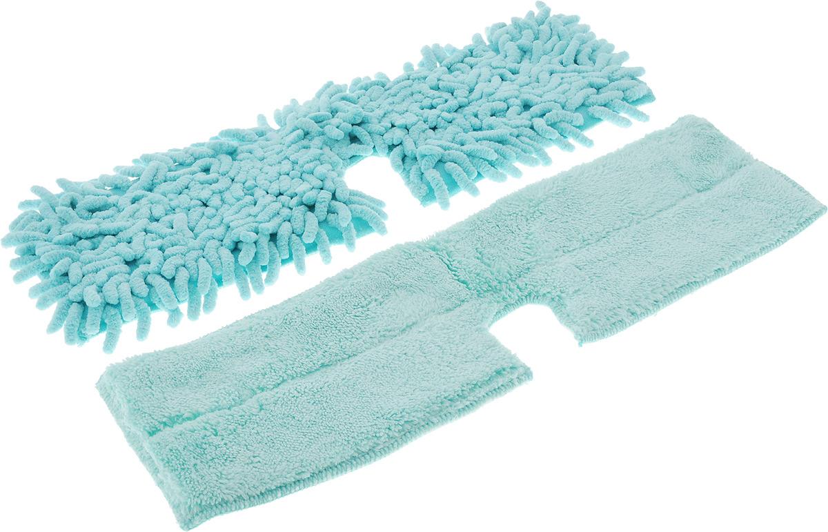 Насадка для двухсторонней швабры Home Queen Еврокласс, цвет: бирюзовый, длина 40 см57983_бирюзовыйСменная насадка для двухсторонней швабры Home Queen Еврокласс изготовлена из шенилла, разновидности микрофибры. Материал обладает высокой износостойкостью, не царапает поверхности и отлично впитывает влагу. Насадка отлично удаляет большинство жирных и маслянистых загрязнений без использования химических веществ. Насадка идеально подходит для мытья всех типов напольных покрытий. Она не оставляет разводов и ворсинок. Сменная насадка для швабры Home Queen Еврокласс станет незаменимой в хозяйстве. Стирать вручную без использования кондиционера и отбеливателя, при температуре 60-90°С. Ширина насадки: 12 см. Длина насадки: 40 см.
