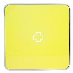 Подвесной органайзер для лекарств Byline, цвет: желтый. 108.3252.56108.3252.56Настенная аптечка - изготовлена из прочного пластика высокого качества, позволяющего эксплуатировать изделие на протяжение весьма существенного периода. Уникальность аптечке придает матовая дверца яркого цвета с удобной ручкой.