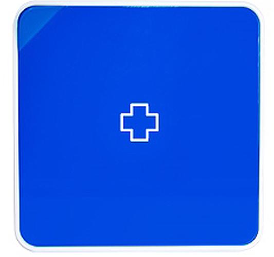 Подвесной органайзер для лекарств Byline, цвет: синий. 108.3252.54108.3252.54Настенная аптечка - изготовлена из прочного пластика высокого качества, позволяющего эксплуатировать изделие на протяжение весьма существенного периода. Уникальность аптечке придает матовая дверца яркого цвета с удобной ручкой.