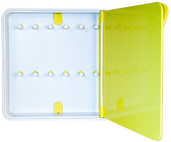 Ключница настенная Byline, цвет: желтый. 108.3201.06108.3201.06Настенные ключницы - созданы как удобные органайзеры для хранения и контроля за комплектами ключей. Больше не надо думать, куда положить ключи от квартиры или дома, машины, почтового ящика, кладовки.