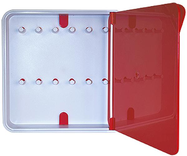 Ключница настенная Byline, цвет: красный. 108.3201.05108.3201.05Настенные ключницы - созданы как удобные органайзеры для хранения и контроля за комплектами ключей. Больше не надо думать, куда положить ключи от квартиры или дома, машины, почтового ящика, кладовки.