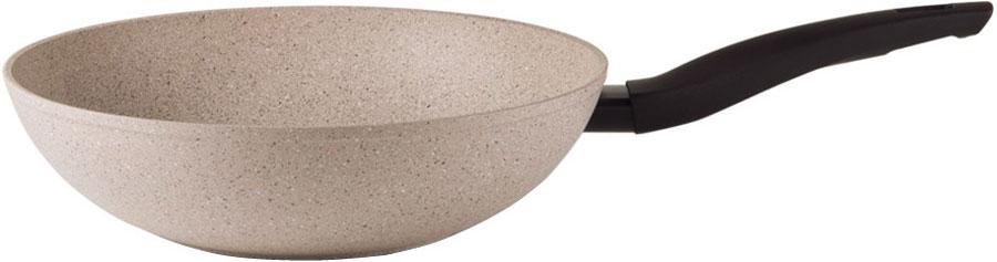 Сковорода-вок TVS Gea Induction, с антипригарным покрытием, цвет: бежевый. Диаметр 28 смBS793283210001Сковорода-вок TVS Gea Induction изготовлена из высококачественного алюминия с внешним матовым покрытием. Внутреннее покрытие состоит из 7 слоев, которые усилены минеральными частицами. Все это обеспечивает непревзойденную устойчивость к царапинам и износостойкость. Эргономичная ручка выполнена из бакелита с нанесением покрытия soft touch. Сковорода-вок TVS Gea Induction идеально подходит для жарки и тушения блюд. Благодаря антипригарному покрытию использование масла сводится к минимуму. Подходит для всех видов плит, включая индукционные. Можно мыть в посудомоечной машине. Линейка посуды из серии Gea Induction характеризуется стильным дизайном и практичной расцветкой. Вся посуда серии имеет базовое алюминиевое основание, на которое нанесено семь слоев высокотехнологичного антипригарного усиленного покрытия, с использованием частиц натуральных кварцевых минералов. Это делает посуду устойчивой к использованию различных кухонных принадлежностей...