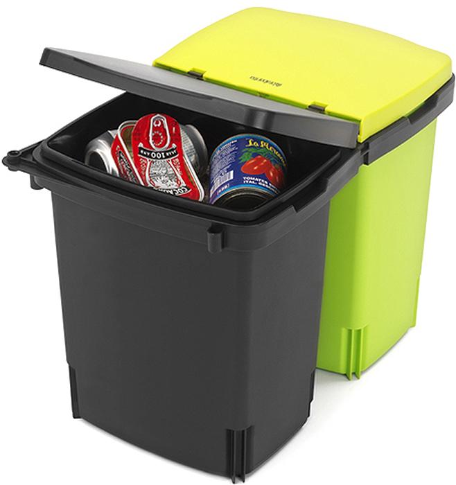 Ведро для мусора Brabantia, двухсекционное. 482205482205Компактный кухонный бак обеспечивает рациональное использование пространства, а также решает вопрос по раздельному сбору мусора на кухне. Компактный - устанавливается практически в любой кухонный шкаф - подходит для дверей, открывающихся влево или вправо. Удобное освобождение от мусора и очистка – два съемных ведра на 10 литров из прочного пластика. Удобное разделение мусора и очистка - подходящие по размеру мешки для мусора (раздел C). Удобный доступ к мусорным ведрам - бак выдвигается из шкафа при открывании дверцы шкафа. Мин. установочные размеры: в 38 x ш 52 x г 30 см. 10-летняя гарантия Brabantia.