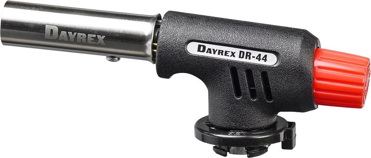 Горелка газовая FOCUSray Dayrex-44 1/10/80DAYREX-44Универсальная газовая горелка. Электронное воспламенение. Температура открытого пламени — 1300°С. Длина открытого пламени — 150 мм. Расход газа - 1,06 г./мин.