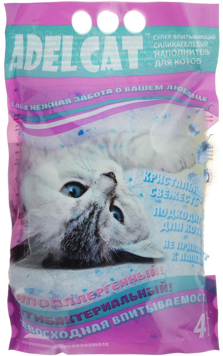 Наполнитель для котов Adel Cat, силикагелевый, с голубыми гранулами, 4 л993725Силикагелевый наполнитель для котов Adel Cat произведен из экологически чистого сырья высокого качества. Безопасен для человека и животного, не вызывает аллергии. Благодаря натуральному составу он обладает естественным для животных запахом и видом, а также природными антисептическими свойствами. За счет уникальной технологии производства, гранулы силикагеля сверхбыстро впитывают влагу, при этом остаются твердыми и не рассыпаются. Силикагелевый наполнитель безупречно удерживает неприятный запах, блокирует его внутри гранул, а также препятствует размножению бактерий. Наполнитель прост в применении благодаря тому, что не образует комков, не содержит пыль, не прилипает к шерсти и лапкам животного. Подходит для котят. Наполнитель имеет гранулы голубого цвета.