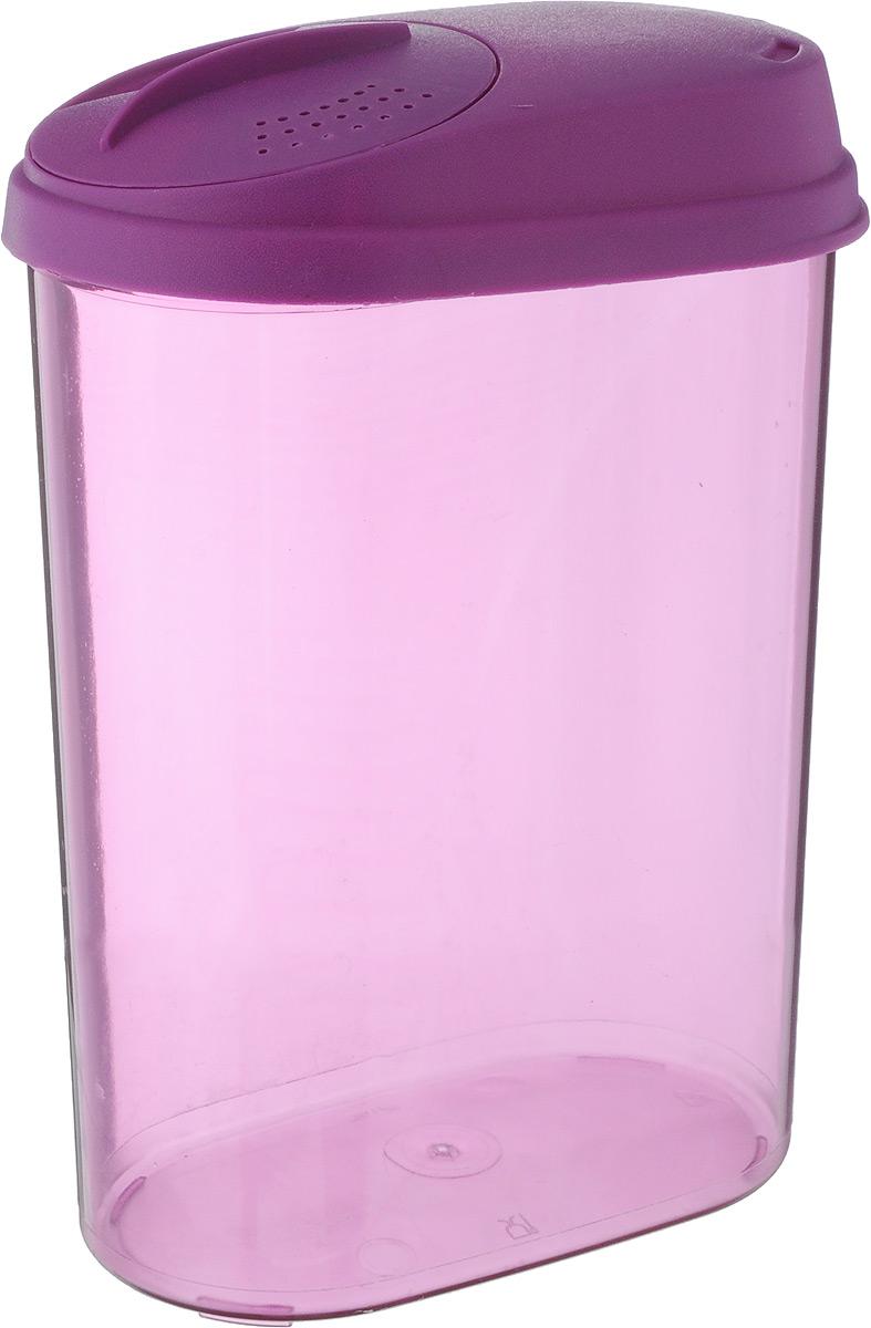 Банка для сыпучих продуктов Giaretti, с дозатором, цвет: фиолетовый, 1,6 лGR3611МИКС_фиолетовыйБанка Giaretti, выполненная из высококачественного пластика, предназначена для хранения круп, сахара, макаронных изделий и других сыпучих продуктов. Плотно прилегающая крышка не пропускает запахи содержимого в шкаф для хранения, при этом продукт не теряет своего аромата. Двойной дозатор предназначен для мелких и крупных сыпучих продуктов. Можно мыть в посудомоечной машине. Объем: 1,6 л. Размер (по верхнему краю): 14,5 x 8,5 см. Высота (с учетом крышки): 20,5 см.