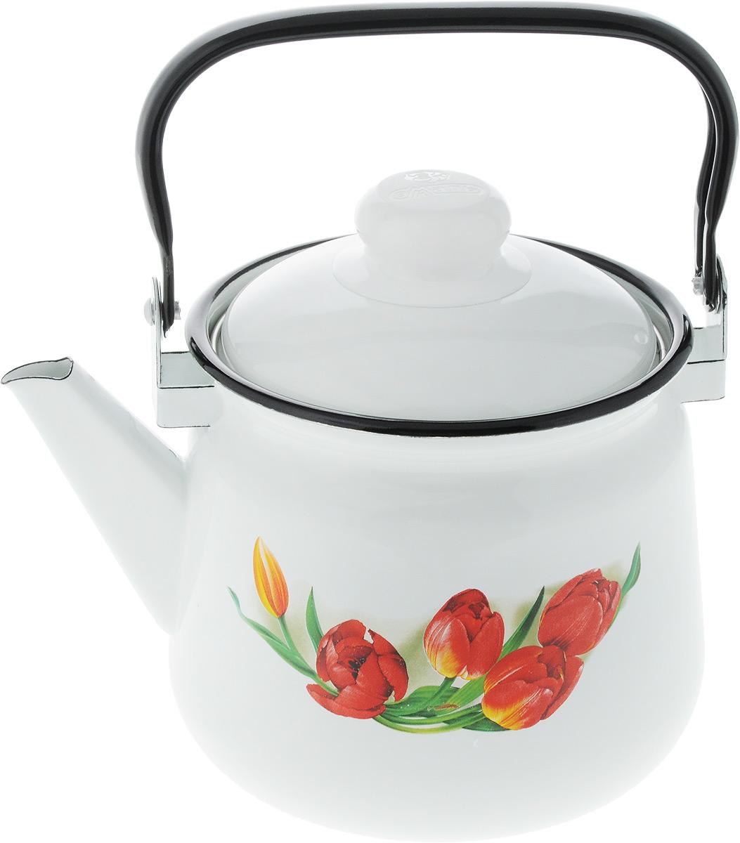 Чайник Эмаль, с рисунком, 2 л. 01-2710/401-2710/4