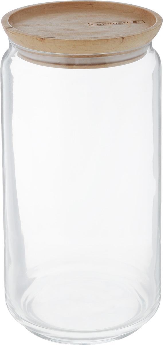 Банка для сыпучих продуктов Luminarc Boxmania. Bois, 1,5 л48803Банка для сыпучих продуктов Luminarc Boxmania. Bois изготовлена из высококачественного стекла. Изделие оснащено деревянной крышкой, которая герметично закрывается и дольше сохраняет продукты свежими. Внутри можно хранить чай, кофе, сахар, специи, крупы, орехи, сухофрукты и многое другого. Продукты сохранят свой вкус и аромат, а также будут защищены от влаги и грязи. Такая банка станет практичным приобретением для кухни.