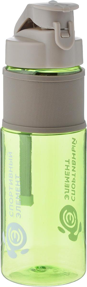 Бутылка для воды Спортивный элемент Аквамарин, цвет: прозрачный зеленый, 450 мл00014_прозрачный зеленыйСтильная бутылка для воды Спортивный элемент Аквамарин изготовлена из нового вида пластика - тритана, который легче и прочнее полипропилена, а выглядит как стекло. Носик бутылки закрывается клапаном, благодаря чему содержимое бутылки не прольется, и дольше останется свежим. Удобная бутылка пригодится как на тренировках, так и в походах или просто на прогулке. Высота бутылки (без учета крышки): 16 см.
