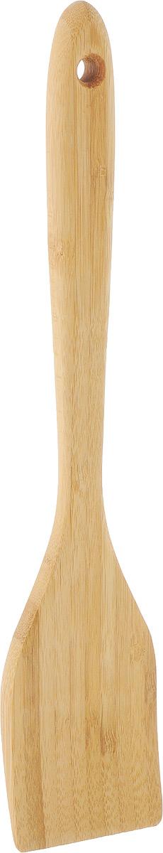 Лопатка кулинарная Kesper, длина 30 см5101-5Кулинарная лопатка Kesper, изготовленная из бамбука, не царапает поверхность посуды и не проводит тепло, что делает ее идеальной для перемешивания горячих продуктов. Удобная ручка не позволит выскользнуть лопатке из вашей руки. Практичная и удобная лопатка Kesper займет достойное место среди аксессуаров на вашей кухне. Длина лопатки: 30 см. Размер рабочей части: 11 х 6 см.