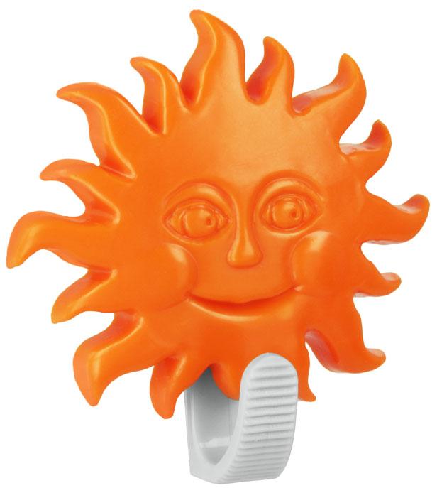 Крючок настенный Metaltex Astros. Солнце, цвет: оранжевый29.05.10_солнце,оранжевыйНастенный крючок Metaltex Astros. Солнце изготовлен из высококачественного цветного пластика в виде забавной фигурки. Он прекрасно подойдет для вашей ванной комнаты или кухни и не займет много места, надежно выдержав все, что вы на него повесите. Крючок крепится на стену с помощью липкой ленты, которая находится на задней стороне крючка или при помощи шурупа (входит в комплект). Он приклеивается к гладкой, ровной и чистой поверхности. На него можно вешать полотенца или любые другие вещи.