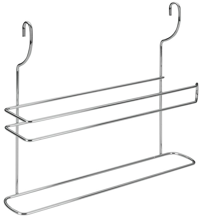 Держатель для полотенец Lonardo навесной35.03.17Настенный держатель для полотенец Lonardo выполнен из нержавеющей стали. На держатель можно повесить полотенце и рулон с бумажными полотенцами. Держатель крепится к стене на 2 петли. Такой держатель отлично подойдет к интерьеру Вашей кухни. Характеристики: Материал: нержавеющая сталь. Размер: 35 см х 8 см х 30 см. Производитель: Италия.