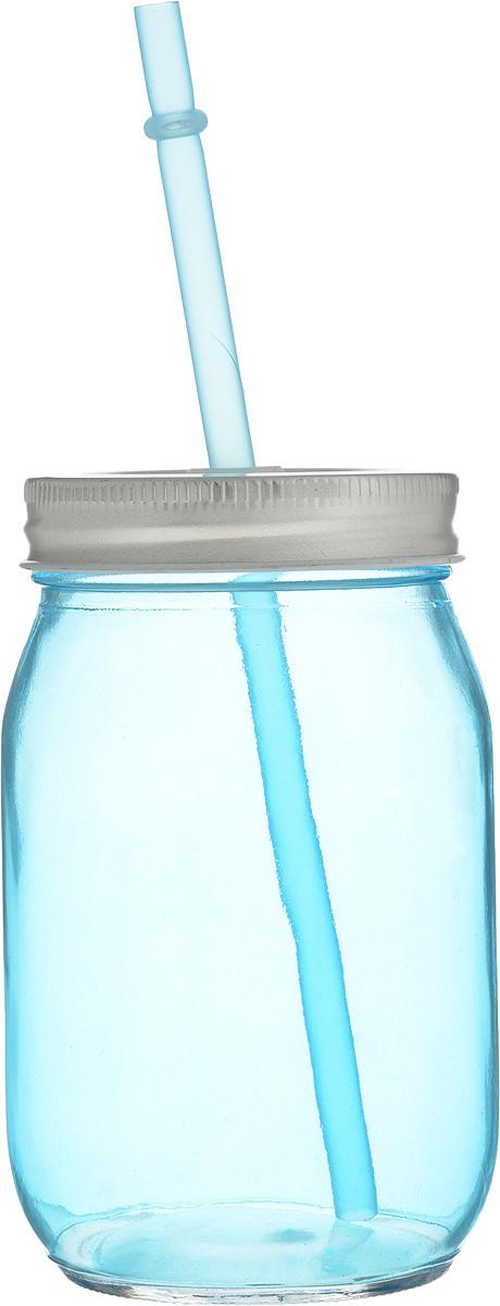 Емкость для напитков Zeller, с трубочкой, 450 мл19737Емкость для напитков Zeller выполнена из высококачественного стекла. Изделие снабжено металлической крышкой с отверстием для трубочки. Эта емкость станет идеальным вариантом для подачи лимонадов, ароматных свежевыжатых соков и вкусных смузи. Диаметр (по верхнему краю): 6,5 см. Высота емкости (без учета трубочки): 13 см.