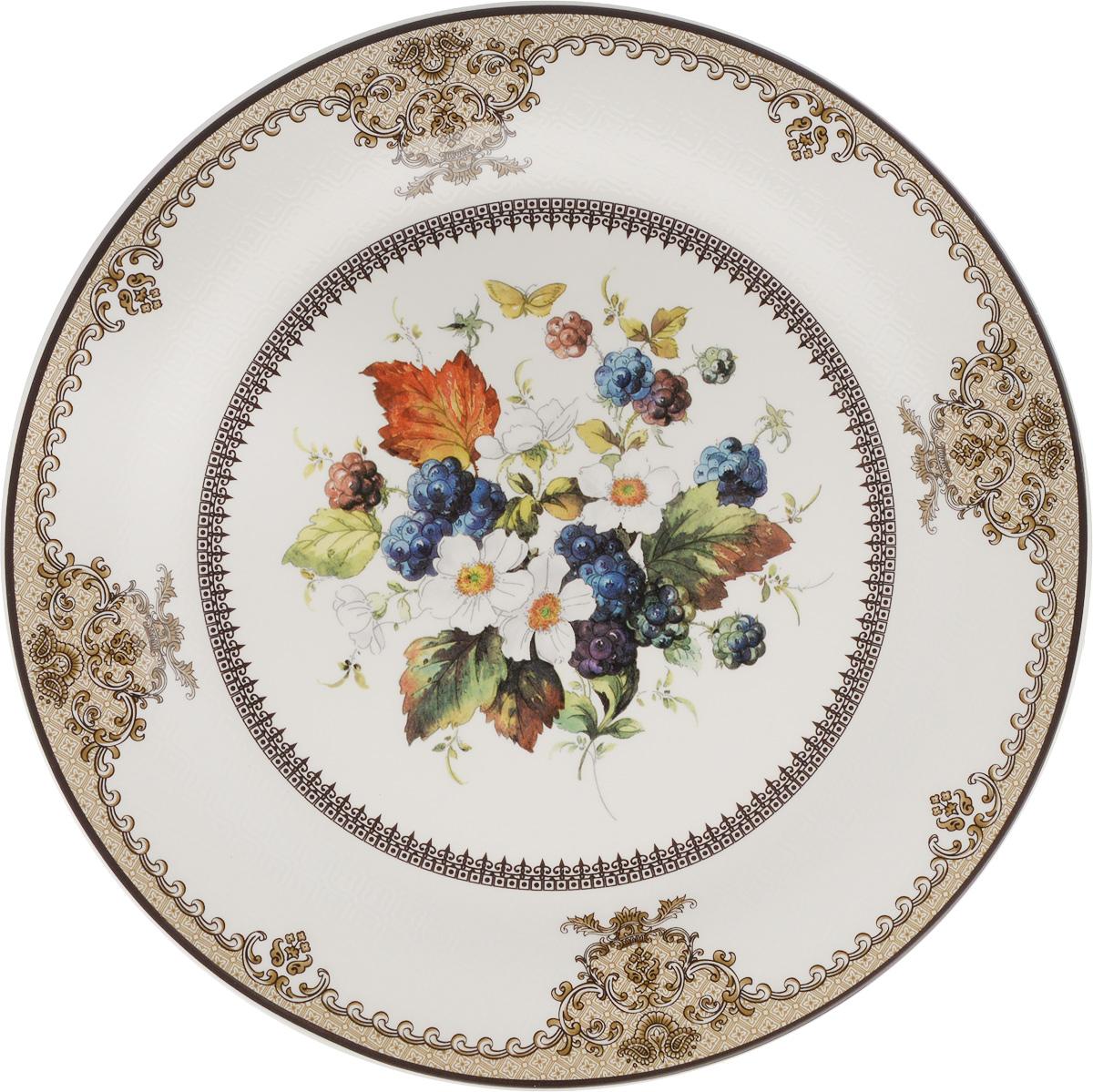 Тарелка Lillo, диаметр 27,5 см. 1001А-АТМ1001А-АТМТарелка Lillo изготовлена из качественной глазурованной керамики. Изделие декорировано красивым рисунком в виде узоров и цветов. Такая тарелка отлично подойдет в качестве блюда для сервировки закусок и нарезок, ее также можно использовать как обеденную. Яркий запоминающийся дизайн и качество исполнения сделают ее отличным подарком. Не рекомендуется использовать в микроволновой печи и мыть в посудомоечной машине.