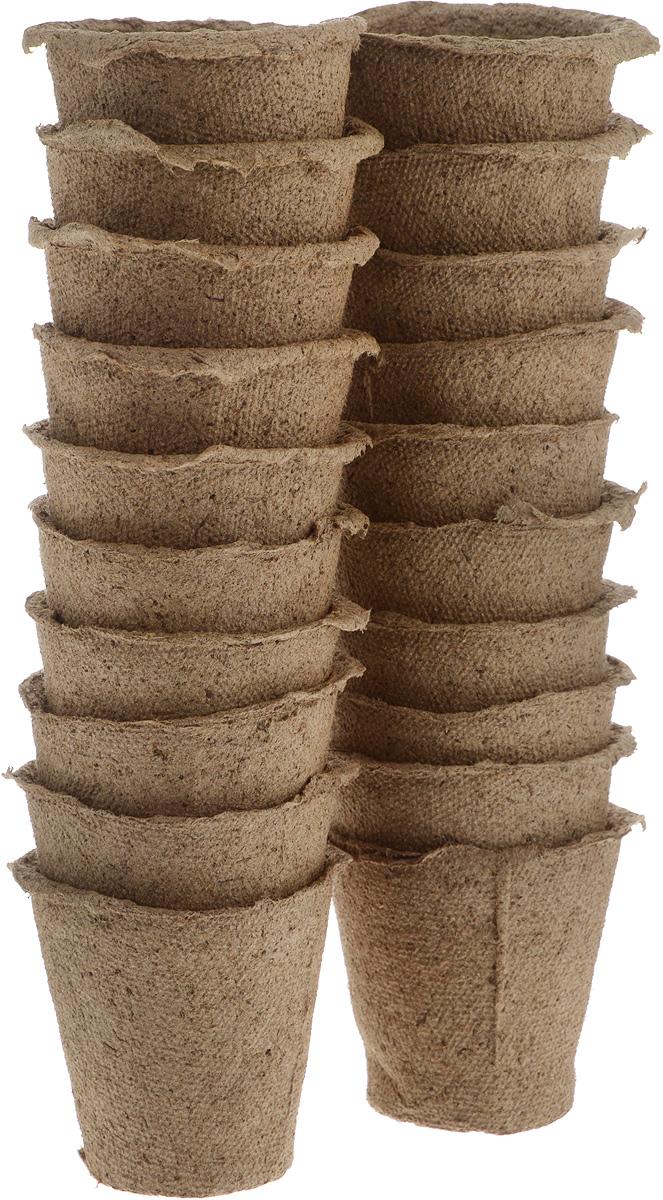Торфяной горшочек Добрая сила, для выращивания рассады, 6 х 6 х 6,5 см, 20 штDS44140091Горшочек Добрая сила является органическим продуктом и представляет собой полую емкость, стенки которого выполнены из торфо-древесной массы с добавлением мела. Рекомендуется для лучшего прорастания накрыть горшочки стеклом или пленкой. Выращенную рассаду необходимо высаживать в грунт вместе с горшком. В комплекте 20 горшочков. Состав: торф верховой 70%, древесная масса 30%, мел, pH не менее 5,5. Размер горшка: 6 х 6 х 6,5 см.