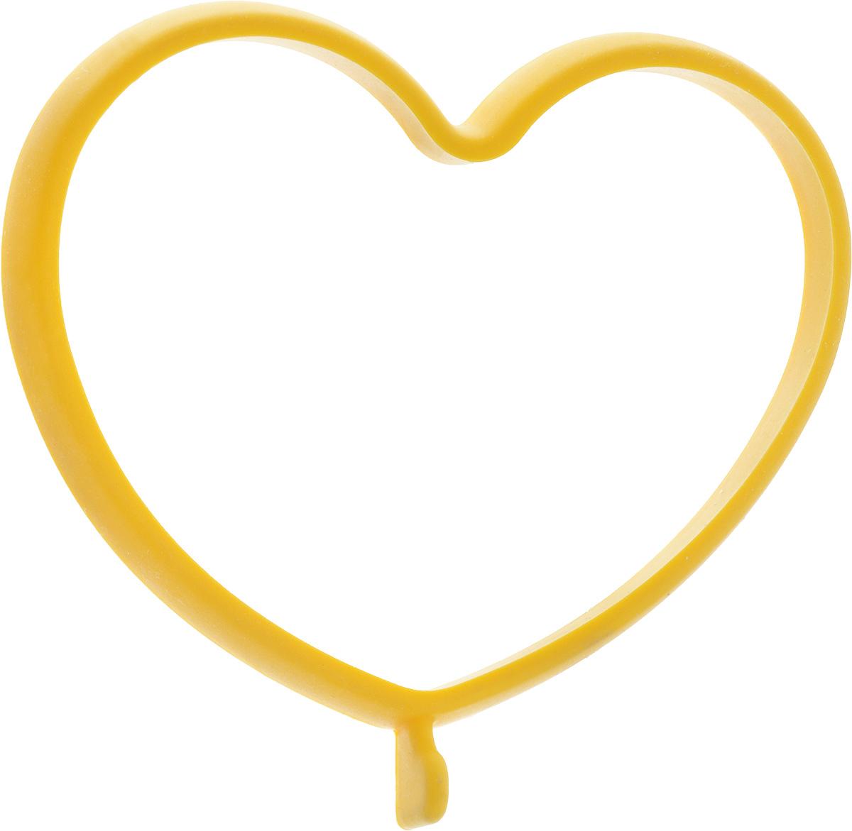 Форма для яичницы Oursson Сердце, цвет: желтый, 13,5 х 11,4 х 1 смBW1356S/MC_желтый_сердцеФорма для яичницы Oursson Сердце, выполненная из жаростойкого силикона, подходит для приготовления яичницы, омлета, оладий! Она добавит оригинальности обычным блюдам и особенно понравится детям! Форма не повреждает антипригарное покрытие сковород. Для получения идеального результата рекомендуется использовать ее на ровной поверхности сковороды. Размер формы: 13,5 х 11,4 х 1 см