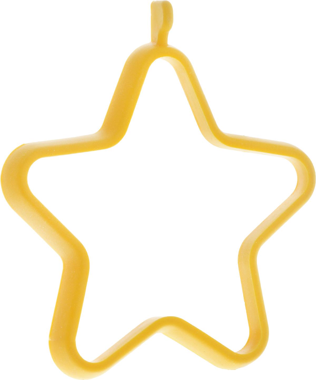 Форма для яичницы Oursson Звезда, цвет: желтый, 13,5 х 11,4 х 1 смBW1356S/MC_желтый_звездаФорма для яичницы Oursson Звезда, цвет: желтый, 13,5 х 11,4 х 1 см
