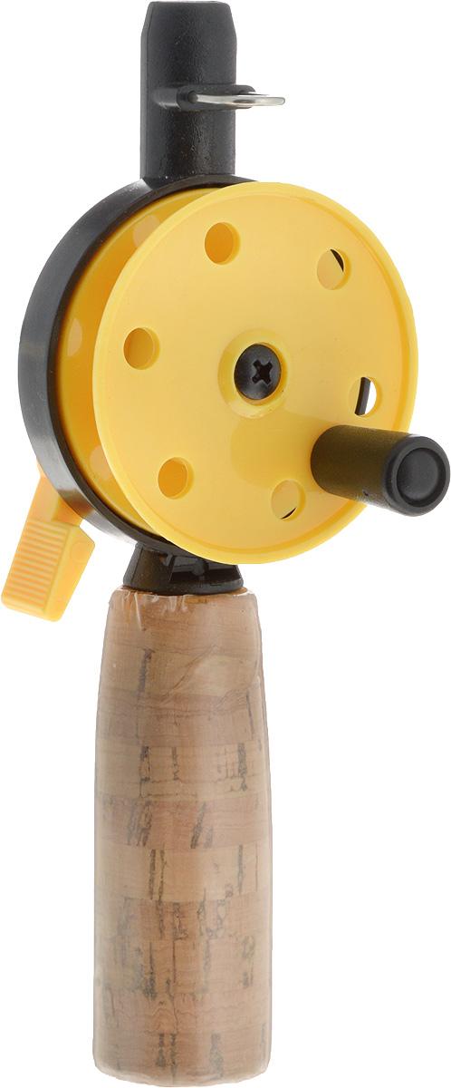 Удочка зимняя Asseri, пробковая ручка, без шестика, цвет: желтый, катушка: 50 мм908-03404_желтыйЗапасная часть для зимних удочек Asseri подойдет для ловли рыбы. Основа изготовлена из износостойкого пластика, который устойчив к морозам. Такая конструкция будет отлично служить вам долгие годы. Пробка, которой покрыта рукоятка, придает ей устойчивость к влаге и блокирует скольжение в руке. Конструкция пластиковой катушки со стопором предотвращает люфты и вредное трение. Возможность заменять хлысты придает модели еще большую функциональность. Леска в комплект не входит.