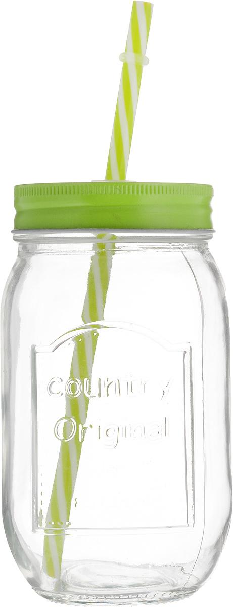 Емкость для напитков Zeller, с трубочкой, 480 мл19736Емкость для напитков Zeller выполнена из высококачественного стекла. Изделие снабжено металлической крышкой с отверстием для трубочки. Эта емкость станет идеальным вариантом для подачи лимонадов, ароматных свежевыжатых соков и вкусных смузи. Диаметр (по верхнему краю): 6,5 см. Высота емкости (без учета трубочки): 14,5 см.