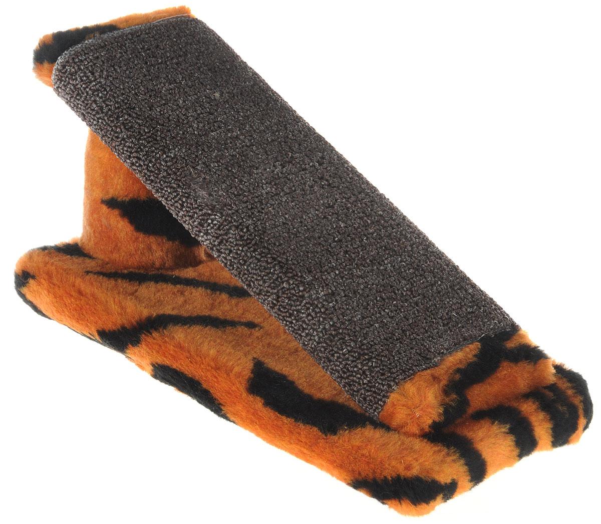 Когтеточка для котят Меридиан Горка, цвет: оранжевый, черный, коричневый, 29 х 14 х 14 смК704ТКогтеточка Меридиан Горка предназначена для стачивания когтей вашего котенка и предотвращения их врастания. Она выполнена из ДВП, ДСП и искусственного меха. Точатся когти о накладку из ковролина. Когтеточка позволяет сохранить неповрежденными мебель и другие предметы интерьера.