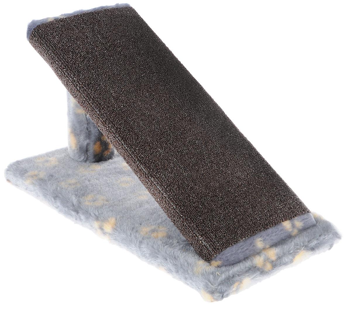 Когтеточка для котят Меридиан Горка, цвет: серый, желтый, коричневый, 45 х 25 х 25 смК103К ЛаКогтеточка Меридиан Горка предназначена для стачивания когтей вашего котенка и предотвращения их врастания. Она выполнена из ДВП, ДСП и искусственного меха. Точатся когти о накладку из ковролина. Когтеточка позволяет сохранить неповрежденными мебель и другие предметы интерьера.