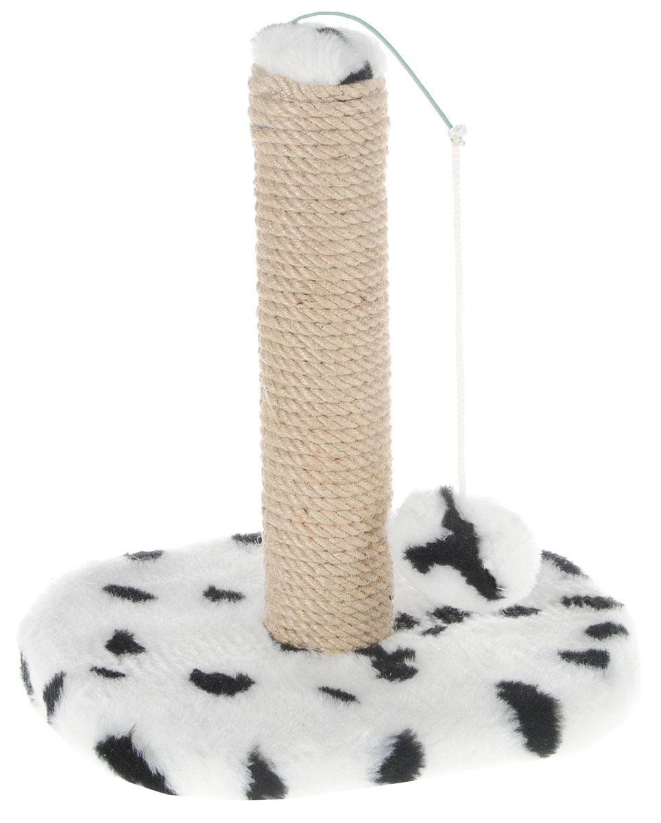 Когтеточка для котят Меридиан Далматин, на подставке, 30 х 24 х 35 смК702Д