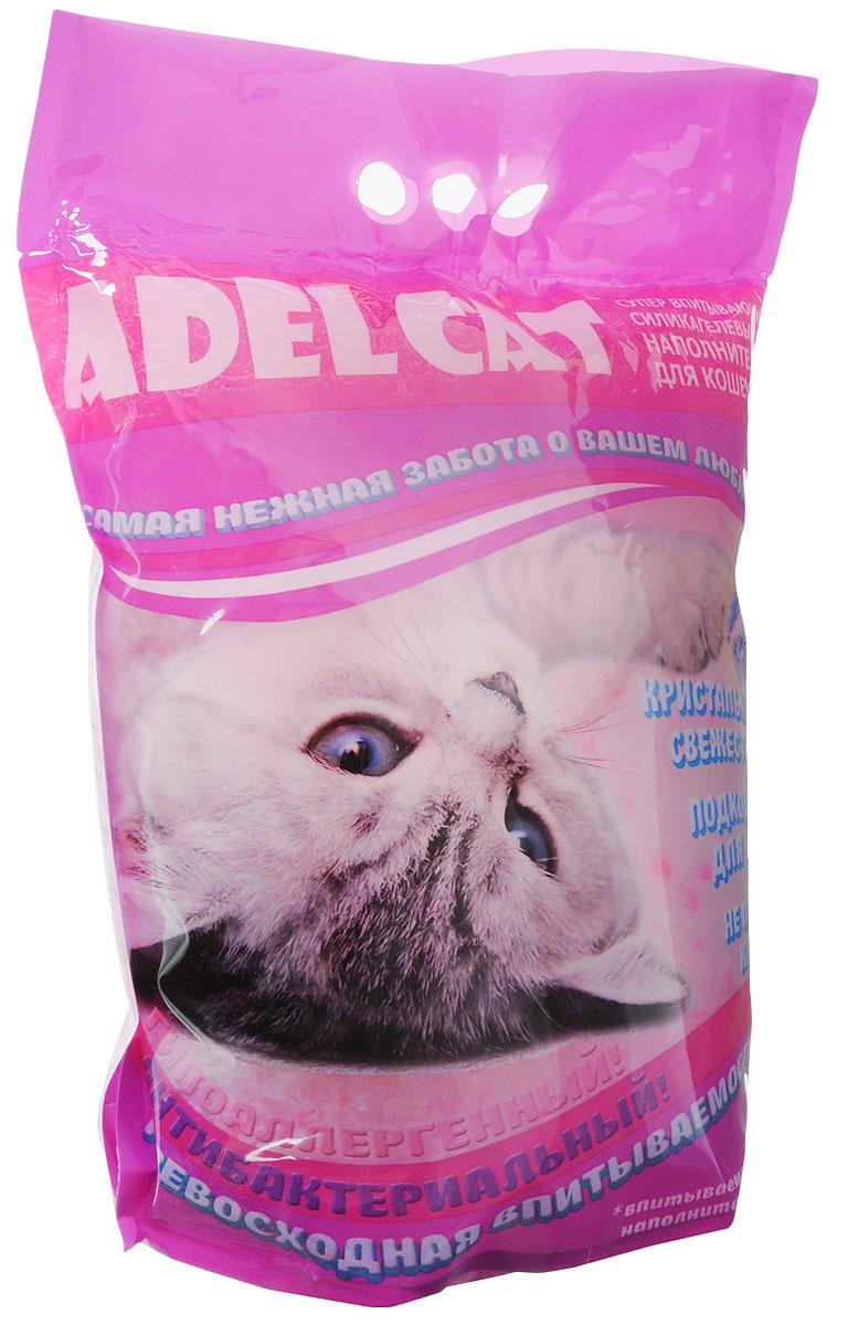 Наполнитель для кошек Adel-Cat, силикагель, с розовыми гранулами, 8 л993732Наполнитель Adel cat силикагель для кошек с розовыми гранулами 8л