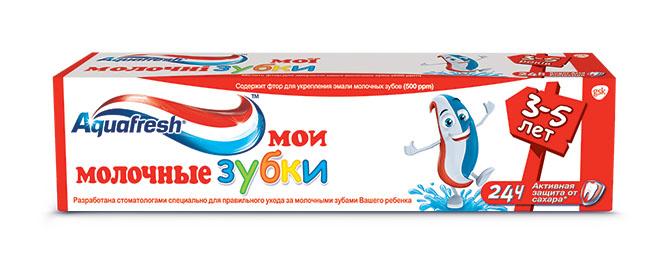 Aquafresh Зубная паста детская Мои молочные зубки 3-5лет 50мл
