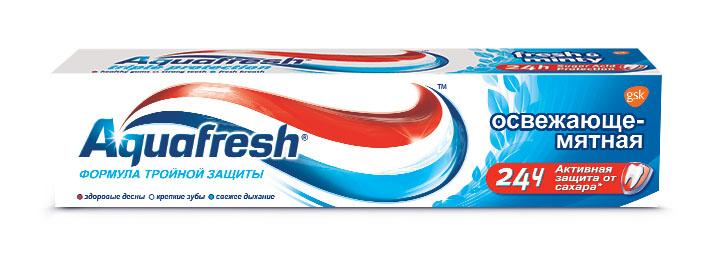 Aquafresh Зубная паста 3+ Освежающе-мятная 100 мл