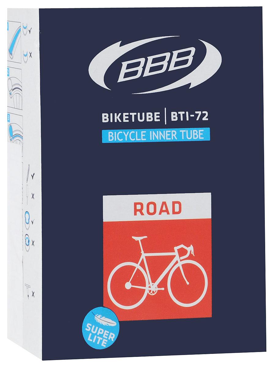 Камера велосипедная BBB, 28, 18, 25C F, V, Super Lite, 60 ммBTI-72Для шоссейного велосипеда. Толщина стенок составляет 0.87 мм. , что является золотой серединой в защите от проколов и минимальным весом. Диаметр колеса: 28 Допустимый размер сечения покрышки: 18/23CВелониппель - Presta. Длина ниппеля - 60 мм.