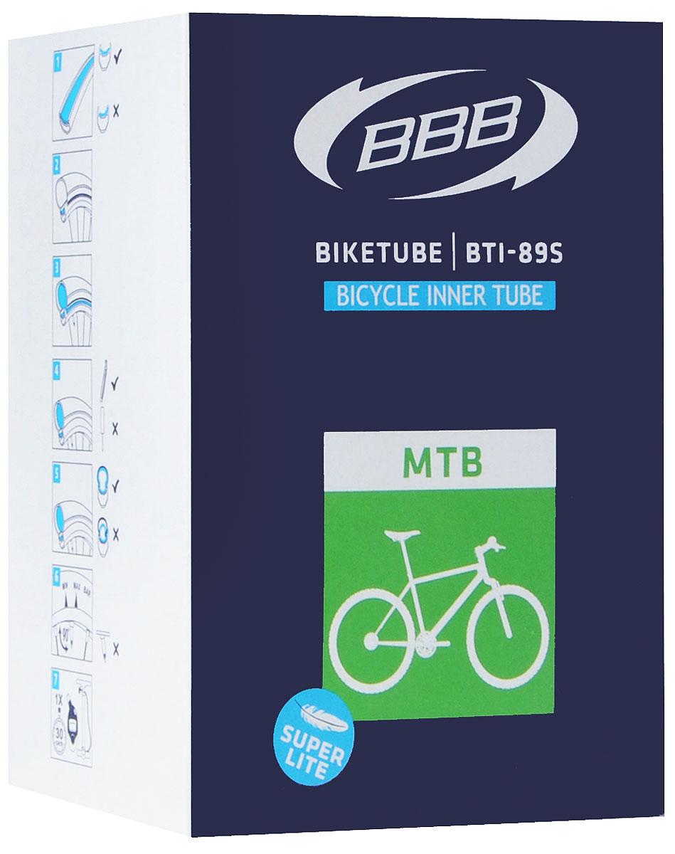 Камера велосипедная BBB, 29, 1,9-2,3 FV, Super Lite, 48 ммBTI-89SКамера BBB изготовлена из долговечного резинового компаунда. Никаких швов, которые могут пропускать воздух. Достаточно большая для защиты от проколов и достаточно небольшая для снижения веса. Велосипедные камеры - обязательный атрибут каждого велосипедиста! Никогда не выезжайте из дома на велосипеде, не взяв с собой запасную велосипедную шину! Диаметр колеса: 29. Допустимый размер сечения покрышки: 1,9-2,3. Ниппель: F/V-48 мм. Категория: для горных велосипедов.