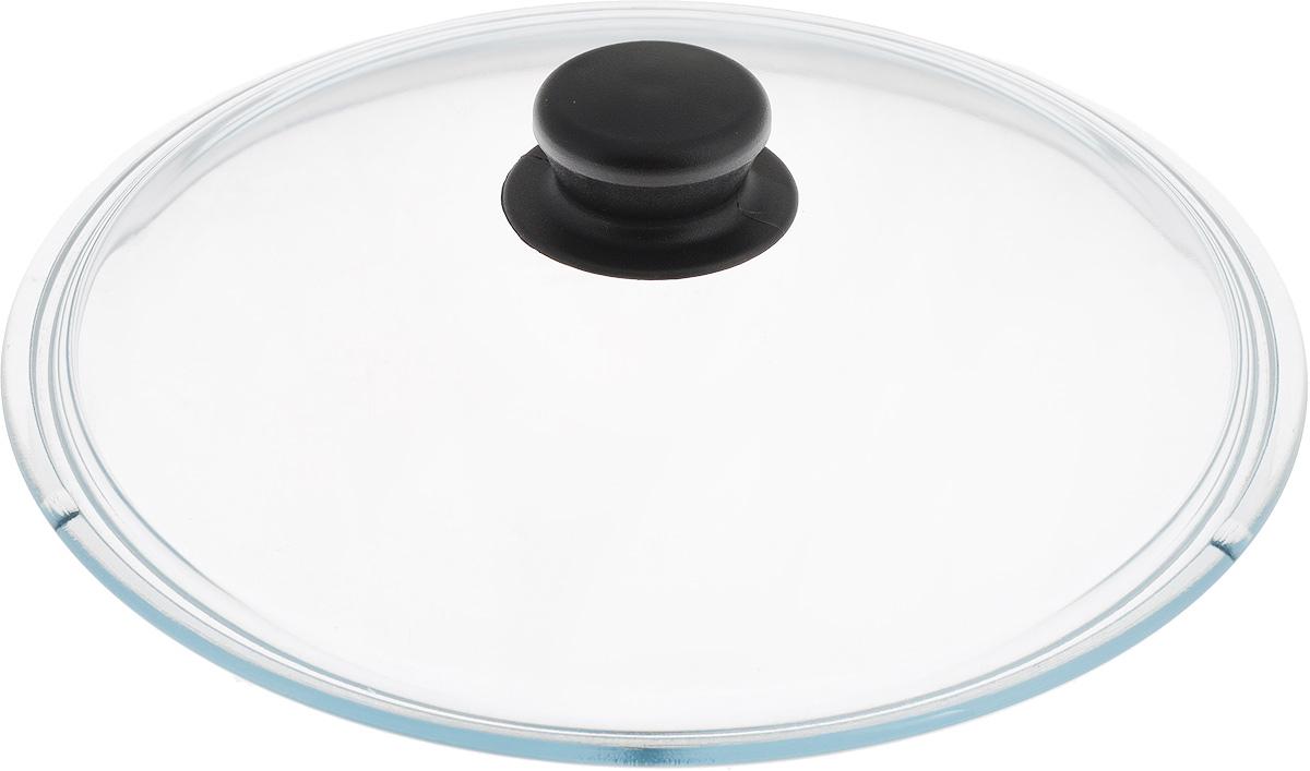 Крышка NaturePan, цвет: черный, прозрачный. Диаметр 26 смЛ2485Крышка NaturePan изготовлена из термостойкого и экологически чистого стекла с пластиковой ручкой. Изделие удобно в использовании и позволяет контролировать процесс приготовления пищи. Можно мыть в посудомоечной машине. Диаметр крышки: 26 см. Диаметр ручки: 4,5 см. Высота ручки: 2,5 см.